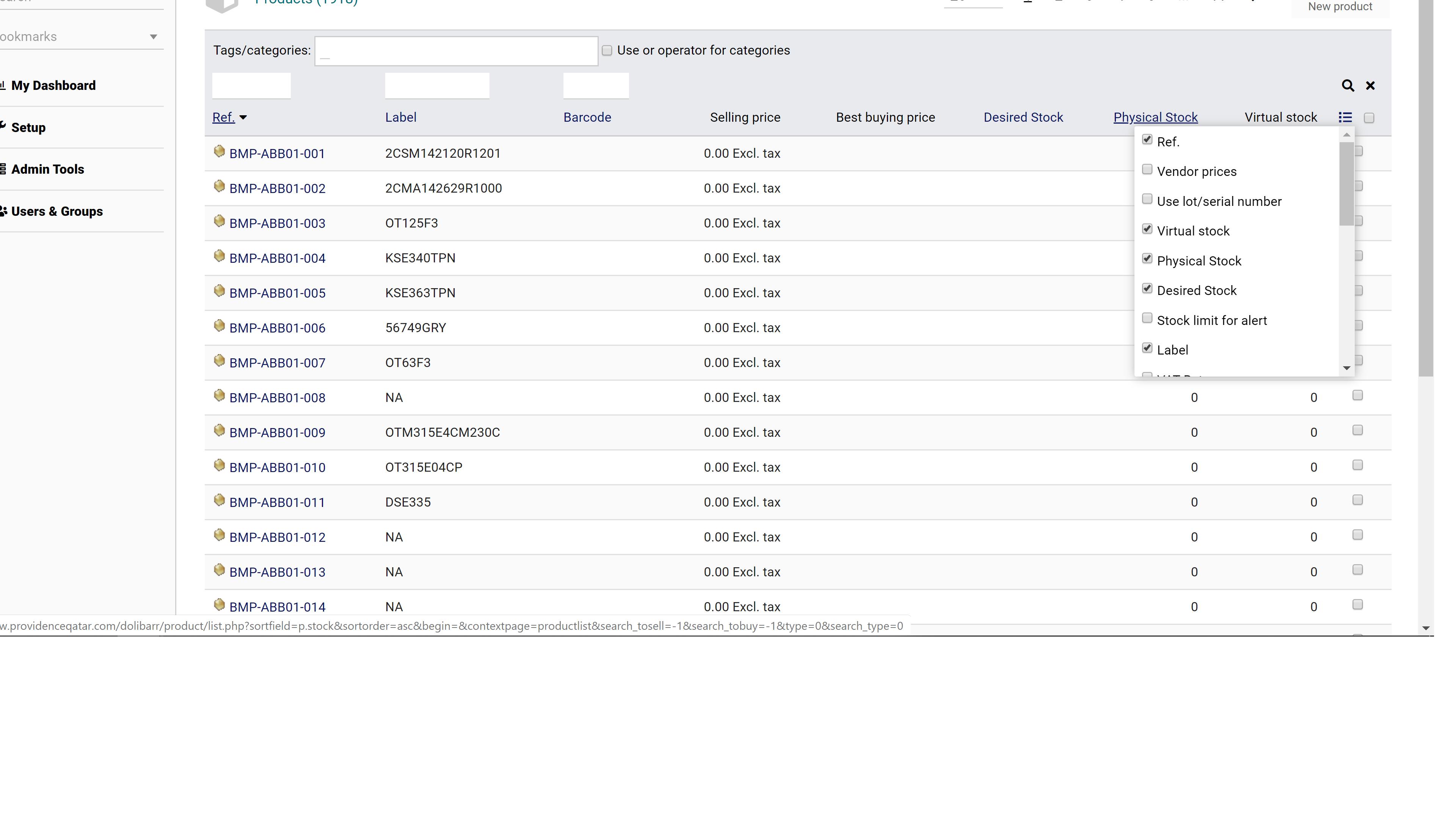 Product list search or list by Description - Using my Dolibarr - Dolibarr  international forum